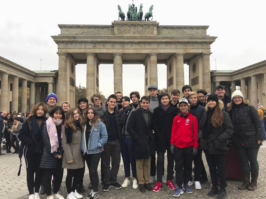 TASIS Students in Berlin, Fall 2018